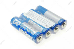 Батарейка солевая AA, GP Power Plus Blue, R6/4S, 4шт без упаковки