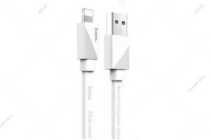 Кабель USB Hoco U34 LingYing Lightning для iPhone X/ 8/ 7 Plus/ 6S/ 5S, 1.2м, белый