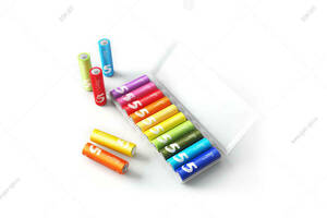 Батарейка алкалиновая AA, Xiaomi Rainbow Battery, LR06/10BL, ZI5, 10шт в упаковке