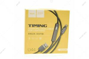 Кабель USB Hoco U44 Timing Lightning с индикатором для Apple, серый